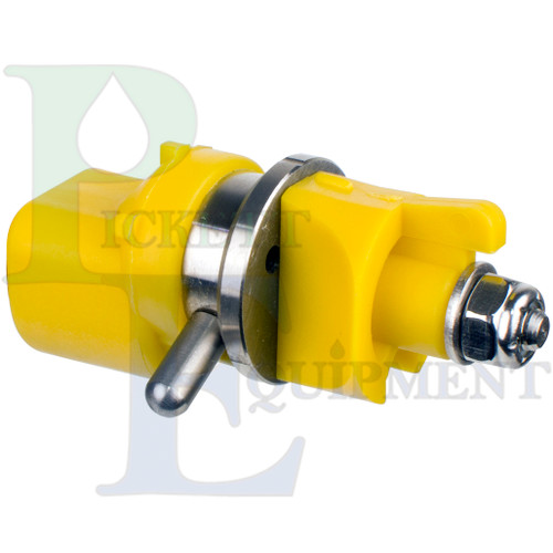 CP-09-3P Poly Straight Stream Nozzle with Poly Selector/Deflector - side