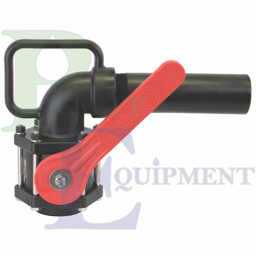 """2"""" Full Port Nozzle Valve With 90º Elbow"""