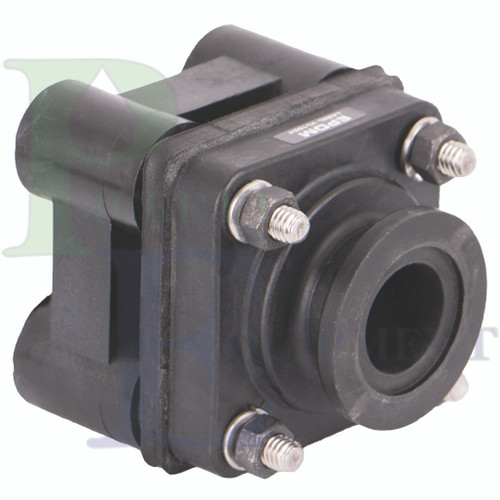 """1"""" Flange X 1"""" Female Thread Bottom Drain Bolted Tank Fitting with EPDM Gasket (MBF100BD)"""