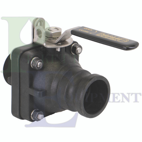 """2"""" Full Port Male Adapter X 2"""" Male NPT Valve With Stainless Steel Ball, Stem & Handle"""