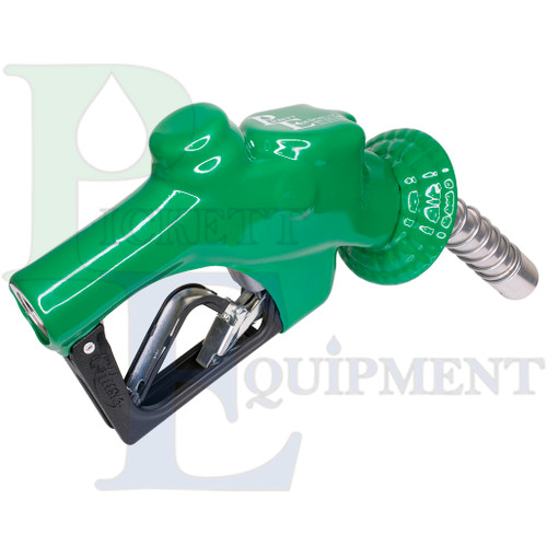 """1"""" pressure-activated automatic diesel nozzle. Green"""