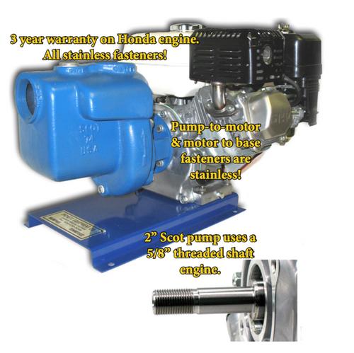 "Honda Engine, GX Series, 5/8"" threaded ""T"" shaft"