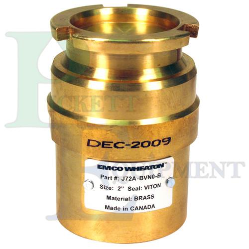 J72A Brass Male Dry Break with Male Thread, Viton seals