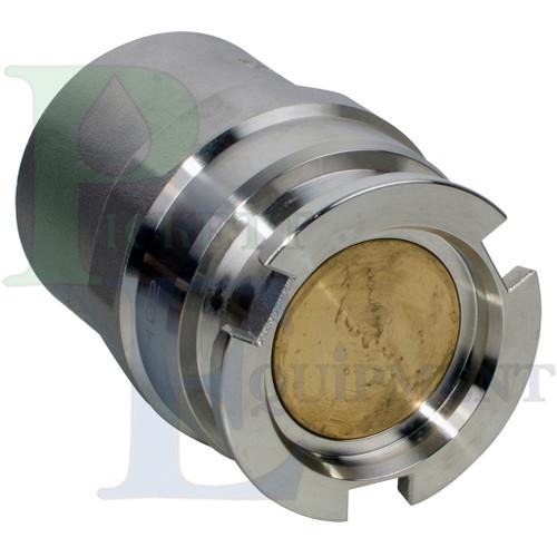 "Dixon 2"" Male Dry Break Adapter, Stainless steel, Viton Elastometer"