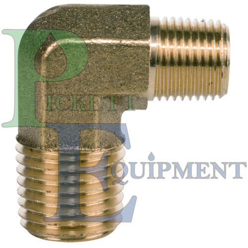 """1/4"""" x 1/8"""" 90° Reducing Male Brass Fitting"""