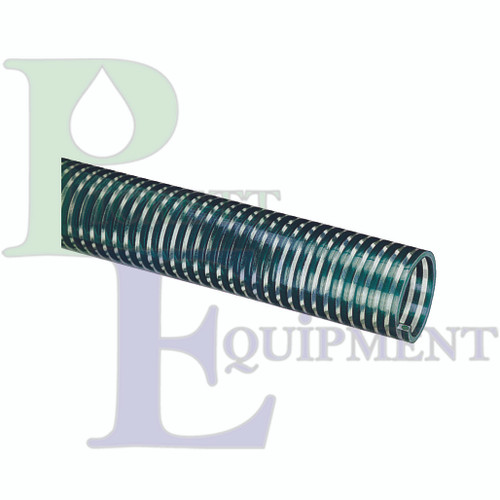 """1-1/2"""" PVC Suction/Discharge Hose, Green Spiral"""