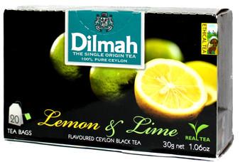 Dilmah Lemon & Lime Flavured Black Tea 20 bags