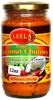 Leela Ginger Coconut Chutney Red 350g