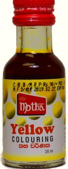Motha Yellow Food Colouring 28ml