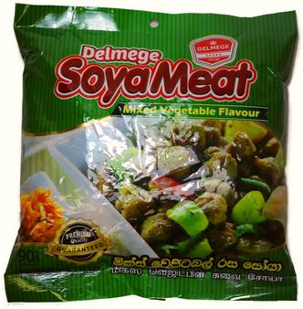 Delmege Mix Vegetable Flavour Soya Meat 90g
