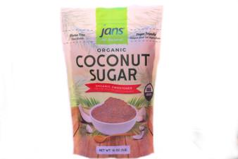 Jans Organic Coconut Sugar 1LB