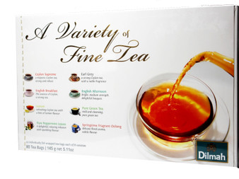 Dilmah Variety of Finest 80 Tea Bags (Gift Pack)