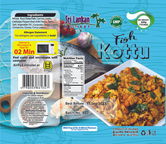 SLD Fish Kottu 300g (10.6 Oz} IN STORE PICK UP ONLY