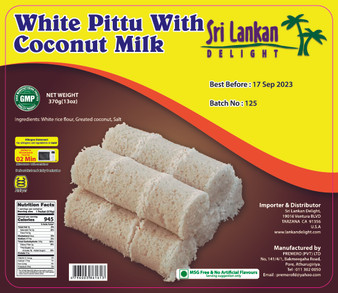 SLD White Pittu With Coconut Milk  3370g(13oz) IN STORE PICK UP ONLY