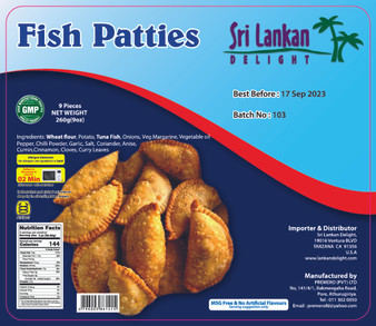 SLD Fish Patties 260g (9oz) IN STORE PICK UP ONLY