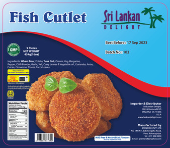 SLD Fish Cutlet 454g(16oz) IN STORE PICK UP ONLY