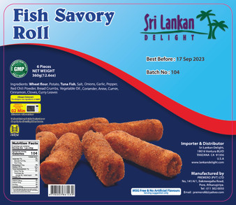 SLD Fish Savory Roll 360g(12.6 Oz) IN STORE PICK UP ONLY