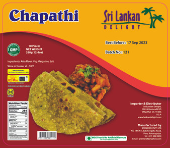 SLD Chapathi 350g (12.4oz) IN STORE PICK UP ONLY
