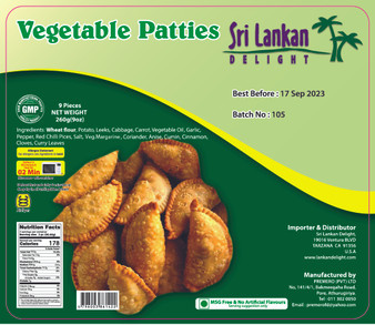 SLD Vegetable Patties 260g(9Oz) IN STORE PICK UP ONLY