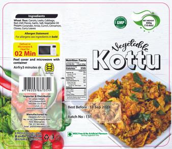 SLD Vegetable Kottu 300g (10.6oz) IN STORE PICK UP ONLY