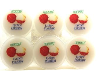 Cocon Lychee Pudding 4.16OZ x6