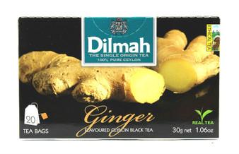 Dilmah Ginger Flavoured Black Tea  20 teabags