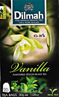 Dilmah Vanila Flavoured Black 20 Tea Bags