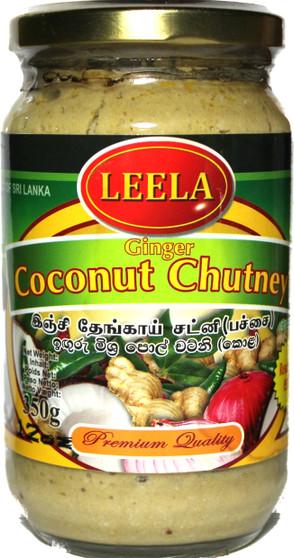 Leela Ginger Coconut Chutney Green 350g