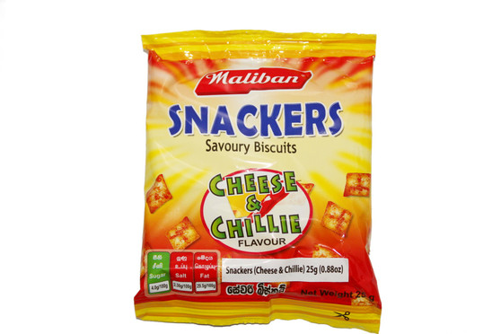 Maliban Snackers Savoury Biscuits Cheese & Chillie Flavour 25g