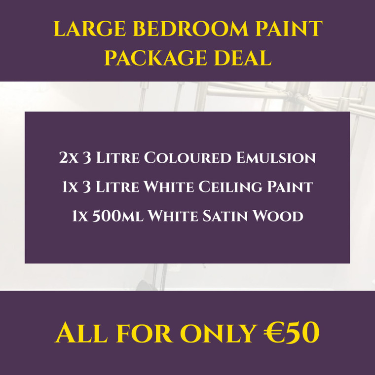 Large Bedroom Paint Package Deal