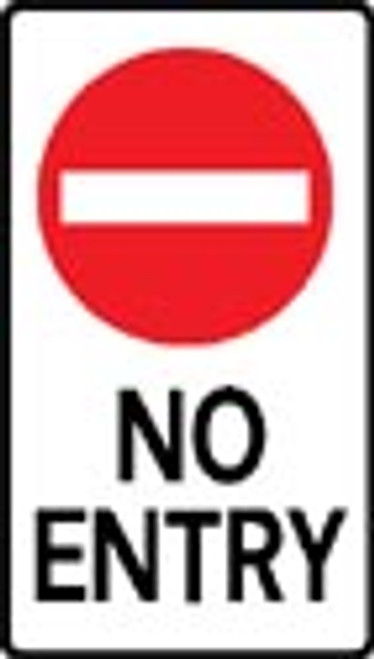 No entry sign reflective