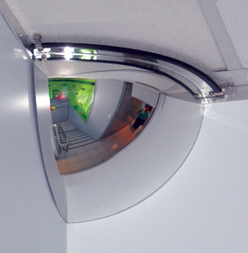Quarter Dome Safety Mirror with fixings