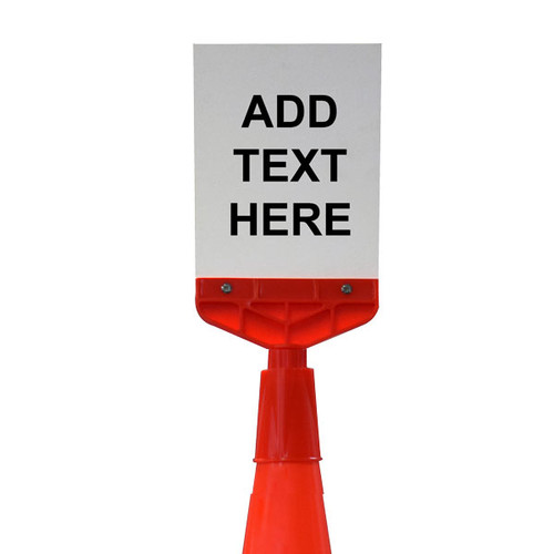 Traffic Cone Sign Adapter Kits - A4 or Round