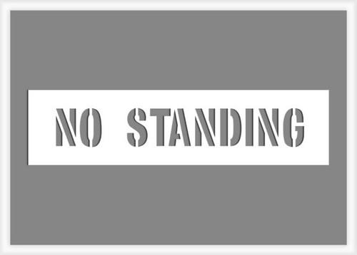No Standing Stencil