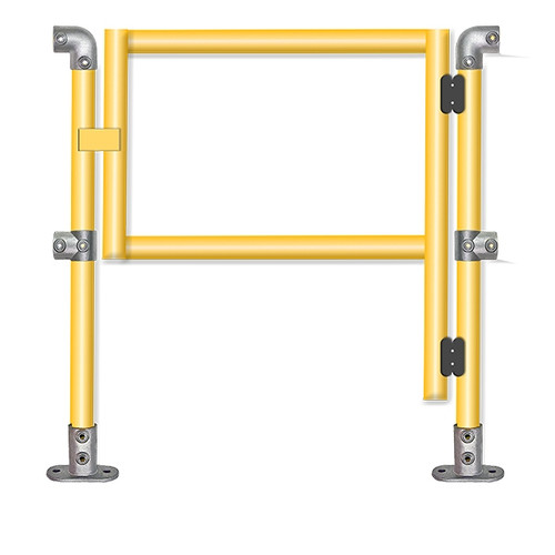 Quickclamp gate set with 2 connecting end posts