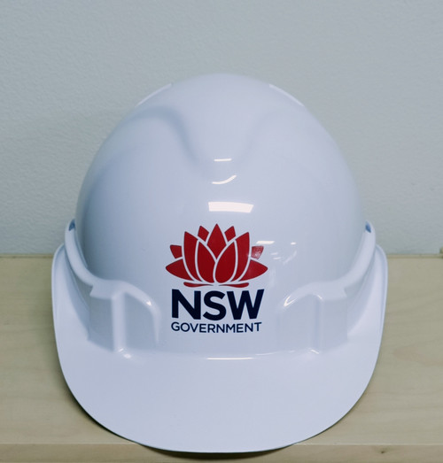 V6 Hard Hat Vented With NSW Government Logo
