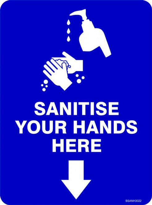 Covid 19 Sanitise your hands here sign