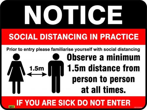 COVID19 Social Distancing signs