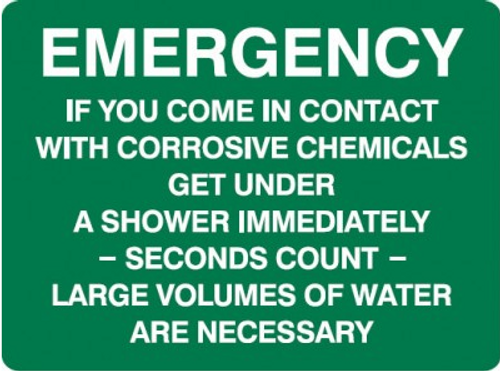 Emergency if you come in contact .... sign