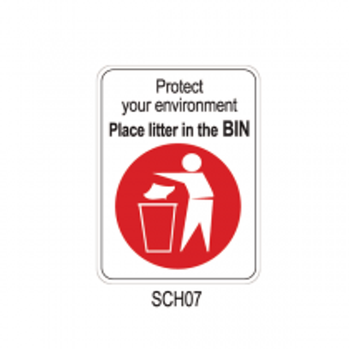 PROTECT YOUR ENVIRONMENT - PLACE LITTER IN THE BIN