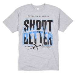 Shoot Better Tee Gray