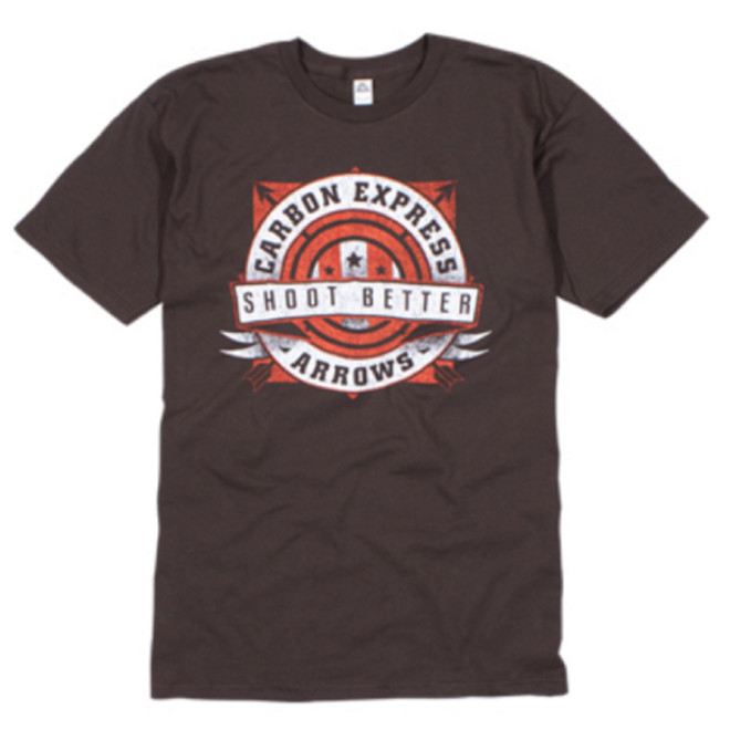 CX Shoot Better Tee 100% Cotton Tee Brown