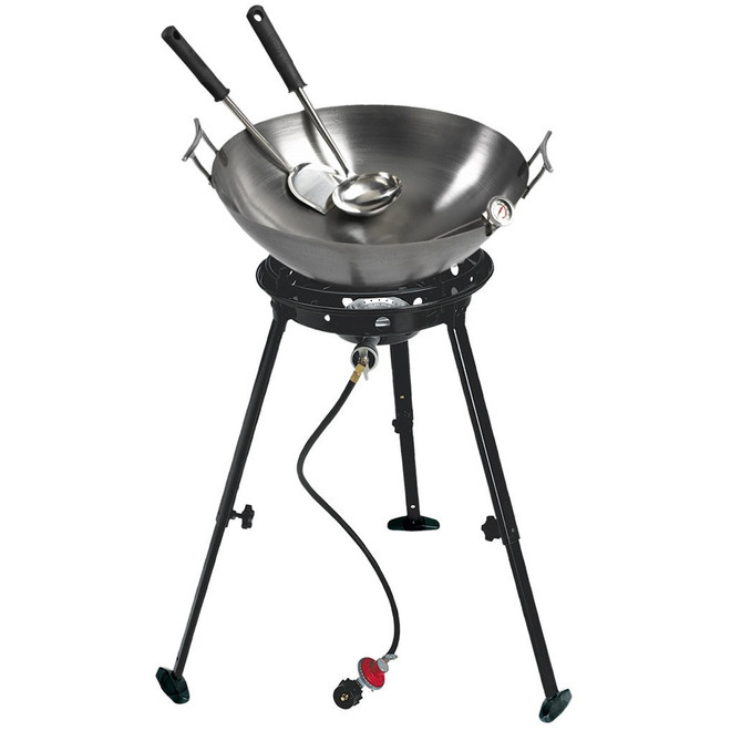 "22"" Carbon Steel Wok Kit w/ Big Kahuna Burner"