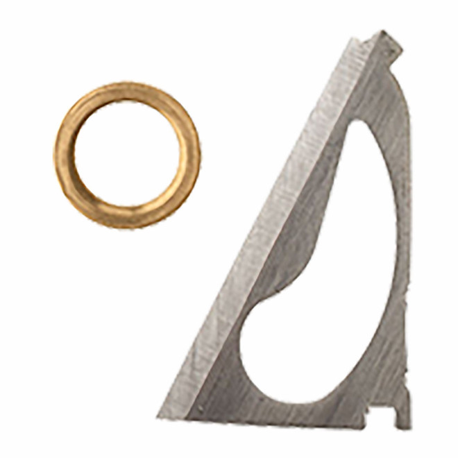 3 BLADE REPLACEMENT BLADES & BRASS RINGS for 75/100 or 125 GRAIN BROADHEADS