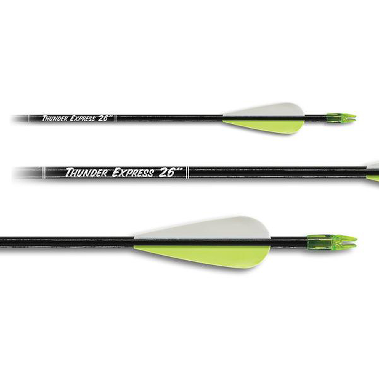 5 Pack Carbon Express Thunder Express Wood Arrows 27 in