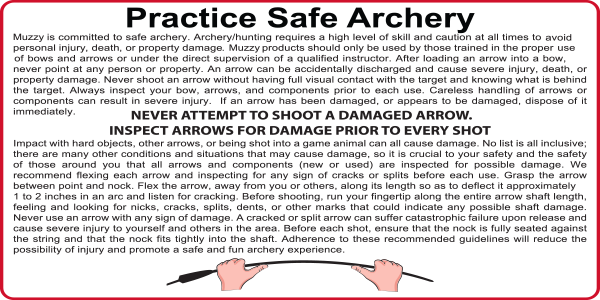 Safe Archery Practices from Muzzy Broadheads