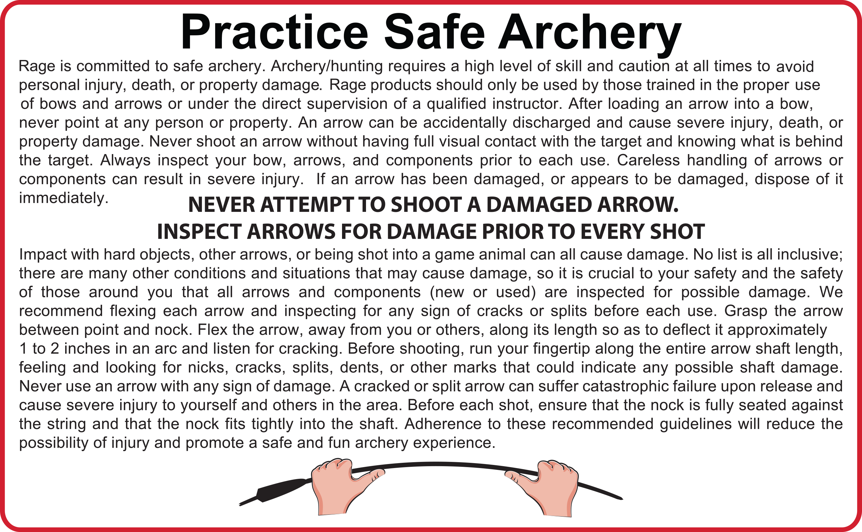 Archery Safe Practices from Rage Broadheads