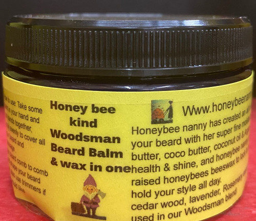 Honey bee  Woodsman  Beard Balm & wax in one