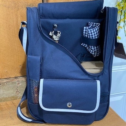 Wine & Cheese Shoulder Bag Picnic Cooler with Glasses