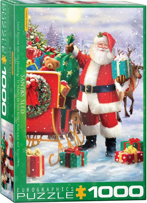 Santa with Sled, Treadwell 1000pc